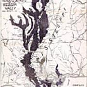 Map: Mississippi River, 1874 Art Print