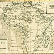 Map Of Africa Art Print