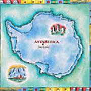 Map Of Antarctica Art Print