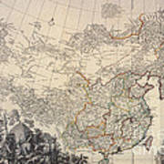 Map Of China, 1734 Art Print