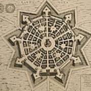 Map Of Palmanova Art Print