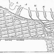 Map: Pullman, C1885 Art Print