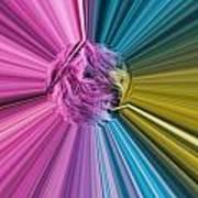 marabou Colour Splash Art Print