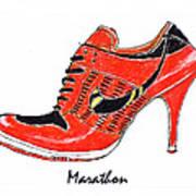 Marathon Art Print by Lynn Blake-John