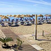 Marbella Holiday Beach Art Print