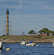 Marblehead Lighthouse From The Water Art Print