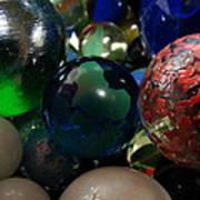 Marbles Around The World Art Print