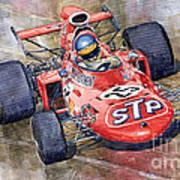 March 711 Ford Ronnie Peterson Gp Italia 1971 Art Print by Yuriy  Shevchuk