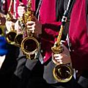 Marching Band Saxophones Cropped Art Print