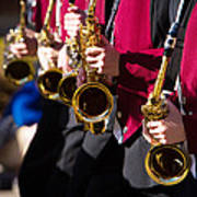 Marching Band Saxophones  Art Print