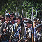 Marching In To Town Art Print