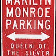 Marilyn Monroe Parking Art Print
