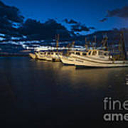 Marina With Fishing Boats Art Print