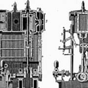 Marine Steam Engine, 1878 Art Print