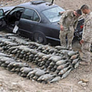 Marines Discover A Weapons Cache Print by Stocktrek Images