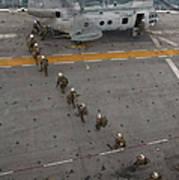 Marines Embark A Ch-46e Sea Stallion Art Print