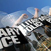Marines Practice Riot Control Art Print