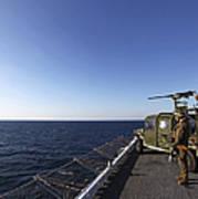 Marines Provide Defense Security Art Print