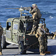 Marines Provide Security Aboard Art Print