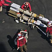 Marines Push Pordnance Into Place Art Print