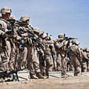 Marines Verify The Battle Sight Zeroes Art Print