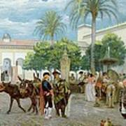 Market Day In Spain Art Print