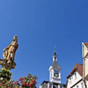 Market Square In Aalen, Germany Art Print