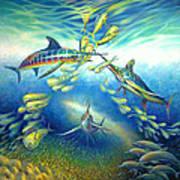 Marlin Frenzy Art Print