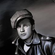 Marlon Brando  Art Print by Andrzej Szczerski