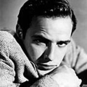 Marlon Brando, Early 1950s Art Print by Everett