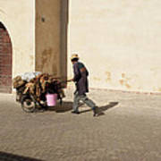 Marrakech Old Town Street Life Art Print