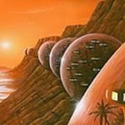 Martian Colony, Artwork Art Print