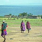 Masai Village Art Print