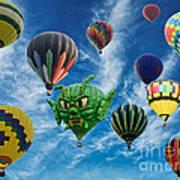 Mass Hot Air Balloon Launch Art Print