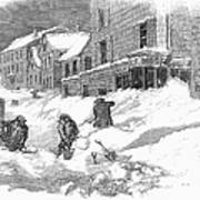 Massachusetts: Blizzard Art Print