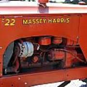 Massey Harris Details Art Print