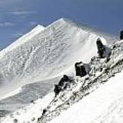 Massif Of Sancy In Winter. Puy De Dome. Auvergne Art Print