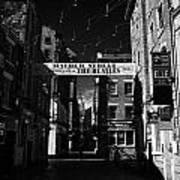 Mathew Street In Liverpool City Centre Birthplace Of The Beatles Merseyside England Uk Art Print