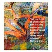 Matthew 5 Art Print