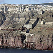 Mavromatis Pumice Quarry With Pier Art Print