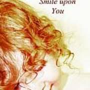 May An Angel Smile Upon You - Greeting Card And Print Art Print