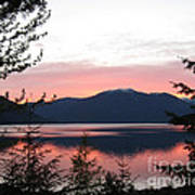 May Sunset On Kootenay Lake Art Print