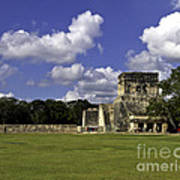Mayan Ball Court Art Print