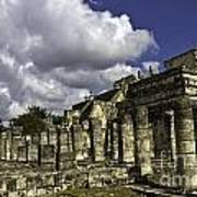 Mayan Colonnade Art Print