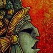 Mayan Mask II Art Print