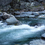 Mcdonald River Glacier National Park - 4 Art Print