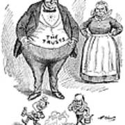 Mckinley Cartoon, 1900 Art Print