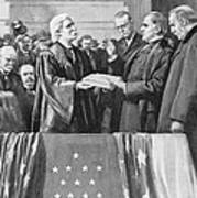 Mckinley Taking Oath, 1897 Art Print
