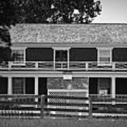 Mclean House Bw Appomattox Virgnia Art Print