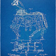 Mechanical Horse Toy Patent Artwork 1893 Art Print by Nikki Marie Smith